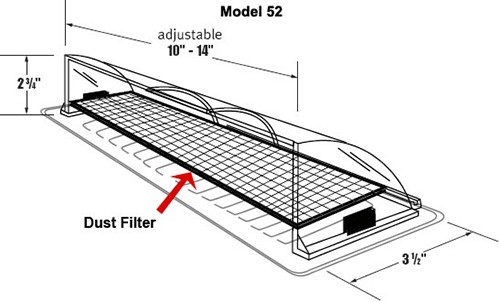 register air deflector | redirect air from vent