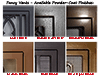 Six Available Powder-Coat Finishes