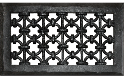 Iron Ring Resin Wall Grill